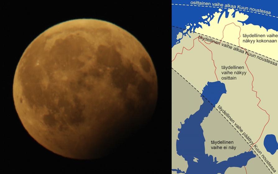 Tahdet Ja Avaruus Kuu Pimenee Keskiviikkona