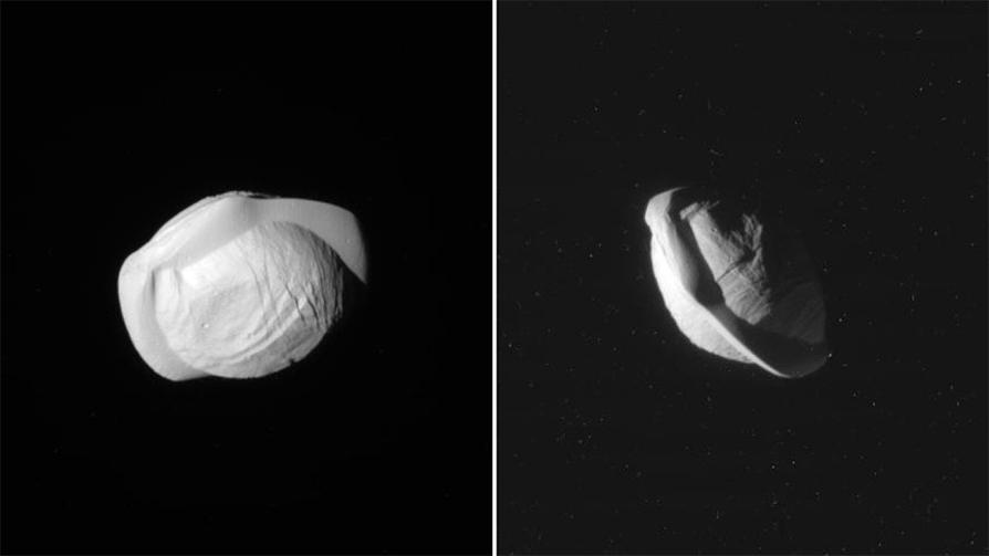 Tähdet ja avaruus: Saturnuksen erikoinen Pan-kuu paistattelee uusissa tarkoissa kuvissa
