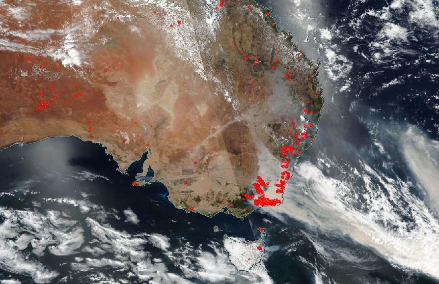Tahdet Ja Avaruus Talta Australian Maastopalot Nayttavat